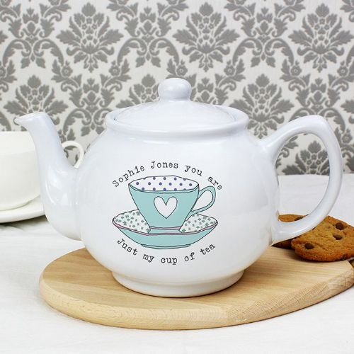 Personalised Vintage Tea Cup Small Teapot